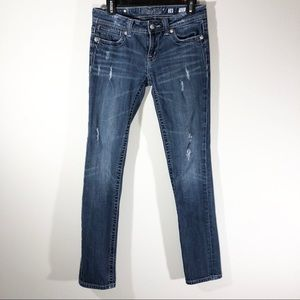 Miss Me Distressed Denim Skinny Jeans Size 28